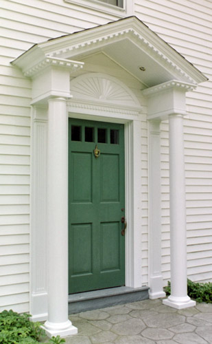 custom colonial door treatment
