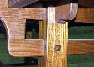 underside of table